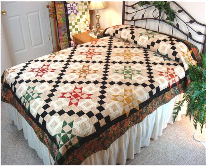 #420 Starburst Quilt Pattern  - Paper Pattern