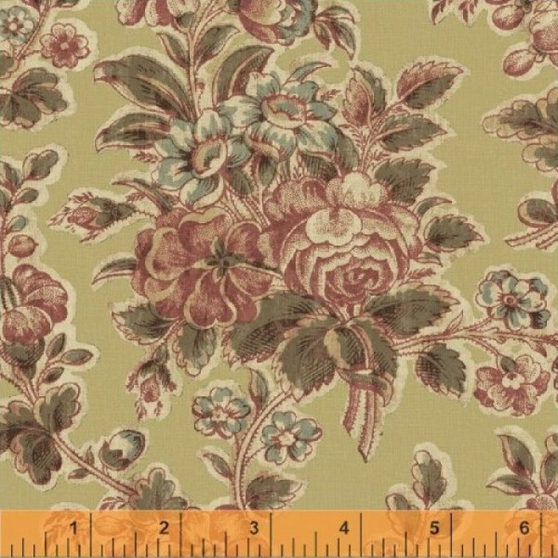 Windham fabrics victorian rose mary koval for Victorian floral fabric