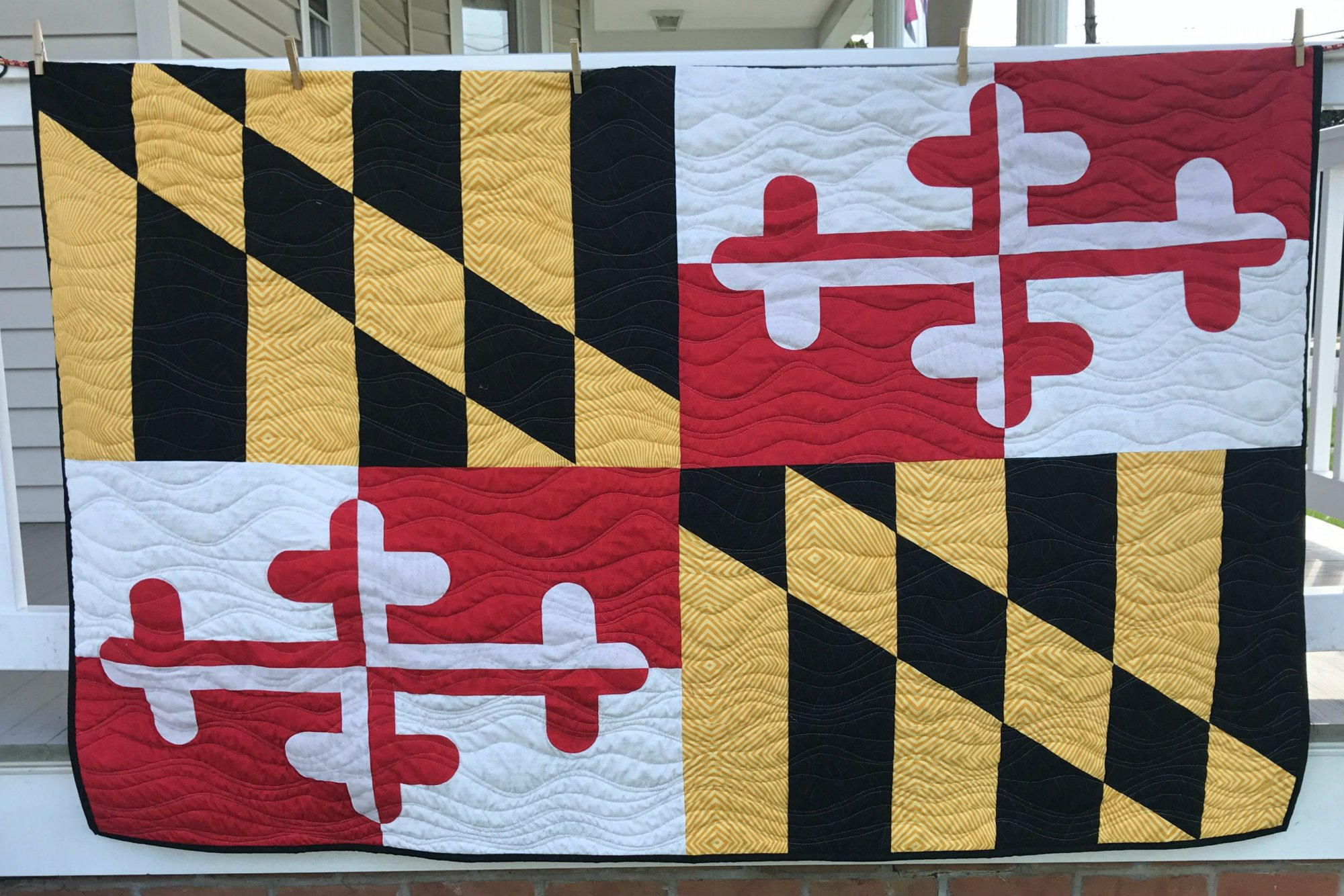 Maryland Flag Pattern