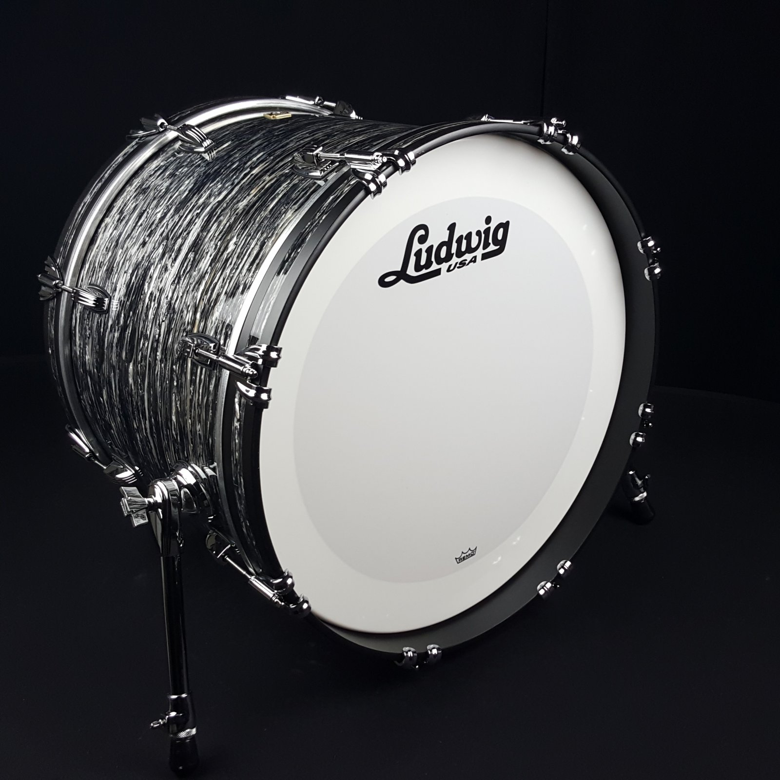 Ludwig Classic Maple 20 12 14 3pc Shell Pack Vintage Black Oyster