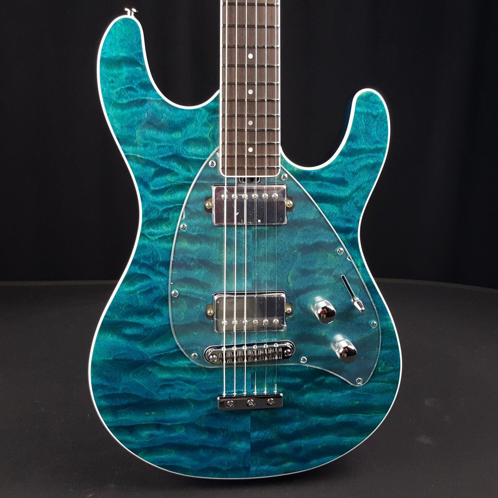 Ernie Ball Music Man BFR Steve Morse Quilt Top Tahitian Blue