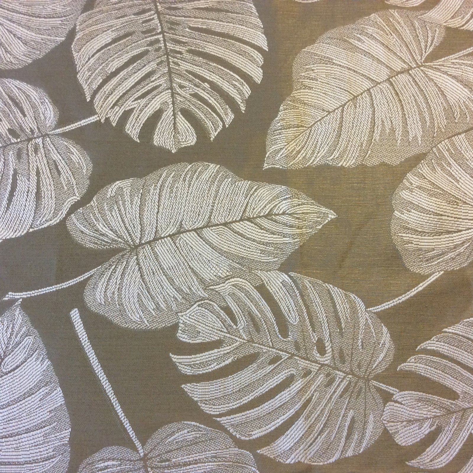 Champagne Italy 152 Fg Tropical Leaves Damask Nature Upholstery Home Decor Fabric