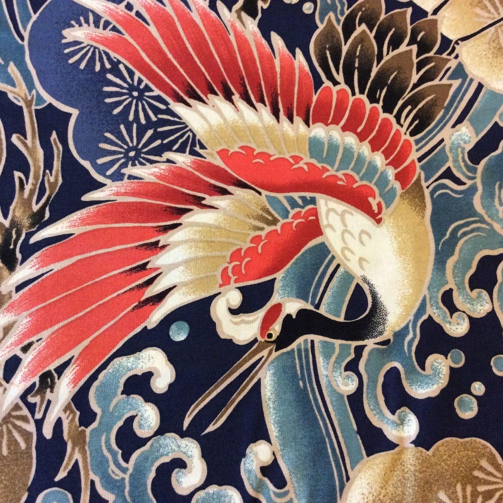 Asian Print Fabrics Geisha Japan China Asia Koi
