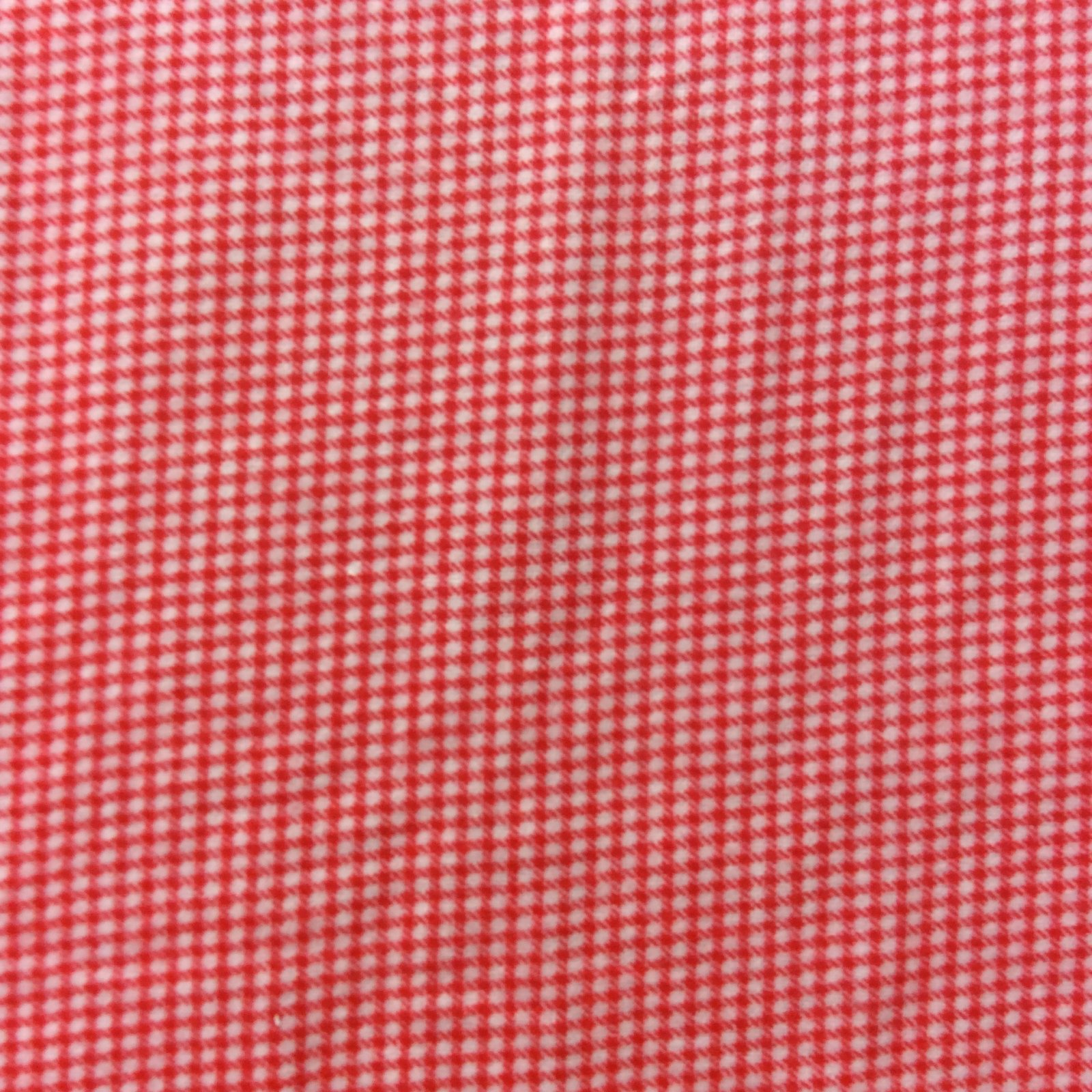 Exquisite Home Decor Aa02 Super Soft Red And White Gingham Picnic Cotton Fabric