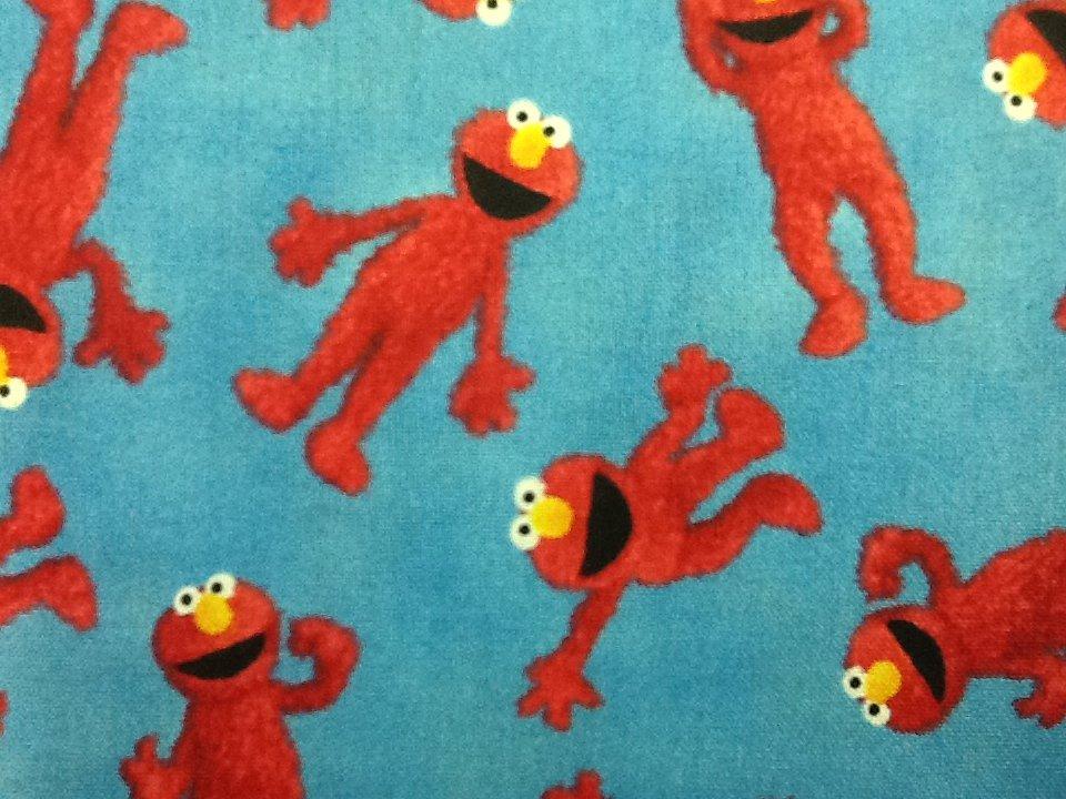 Sesame Street Tickle Me Elmo Pbs Cotton Fabric Quilt