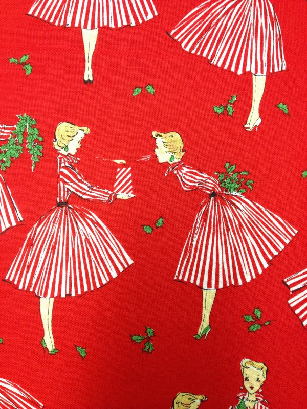 Christmas Retro Fashion Lady Gift Girls Cotton Fabric Quilt Fabric ...