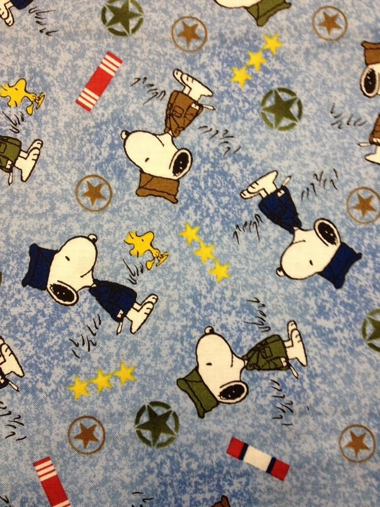 Cs450 peanuts snoopy military uniforms kids cotton fabric for Kids cotton fabric