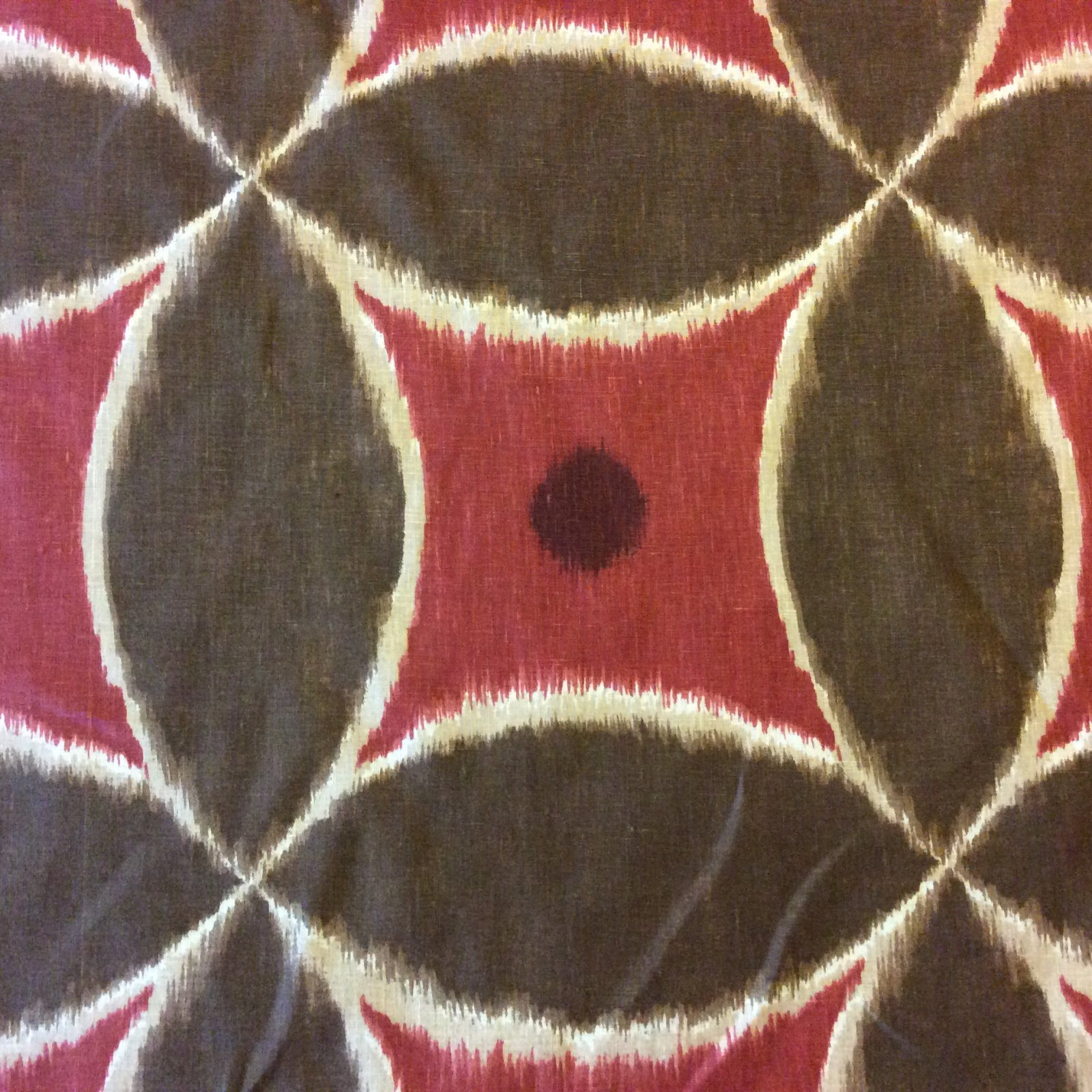 Ikat pattern drapery fabric discount ikat pattern - Ikat Exotic Tribal Modern Burgundy And Brown Pattern Shapes And Objects Heavy Cotton Fabric Drapery Fabric Dso309