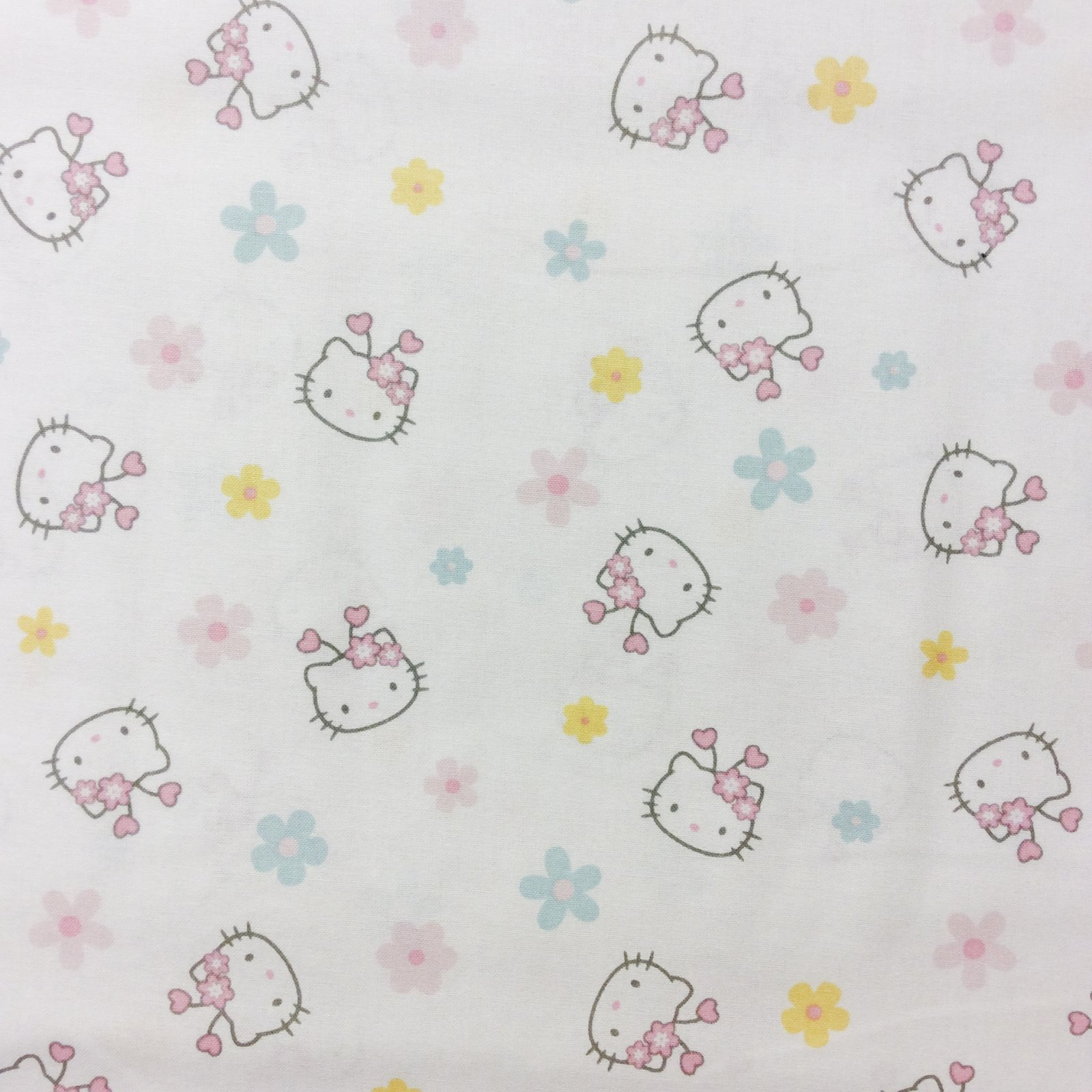 Dt07 hello kitty cartoon anime cute kids daisies quilt for Kids cotton fabric