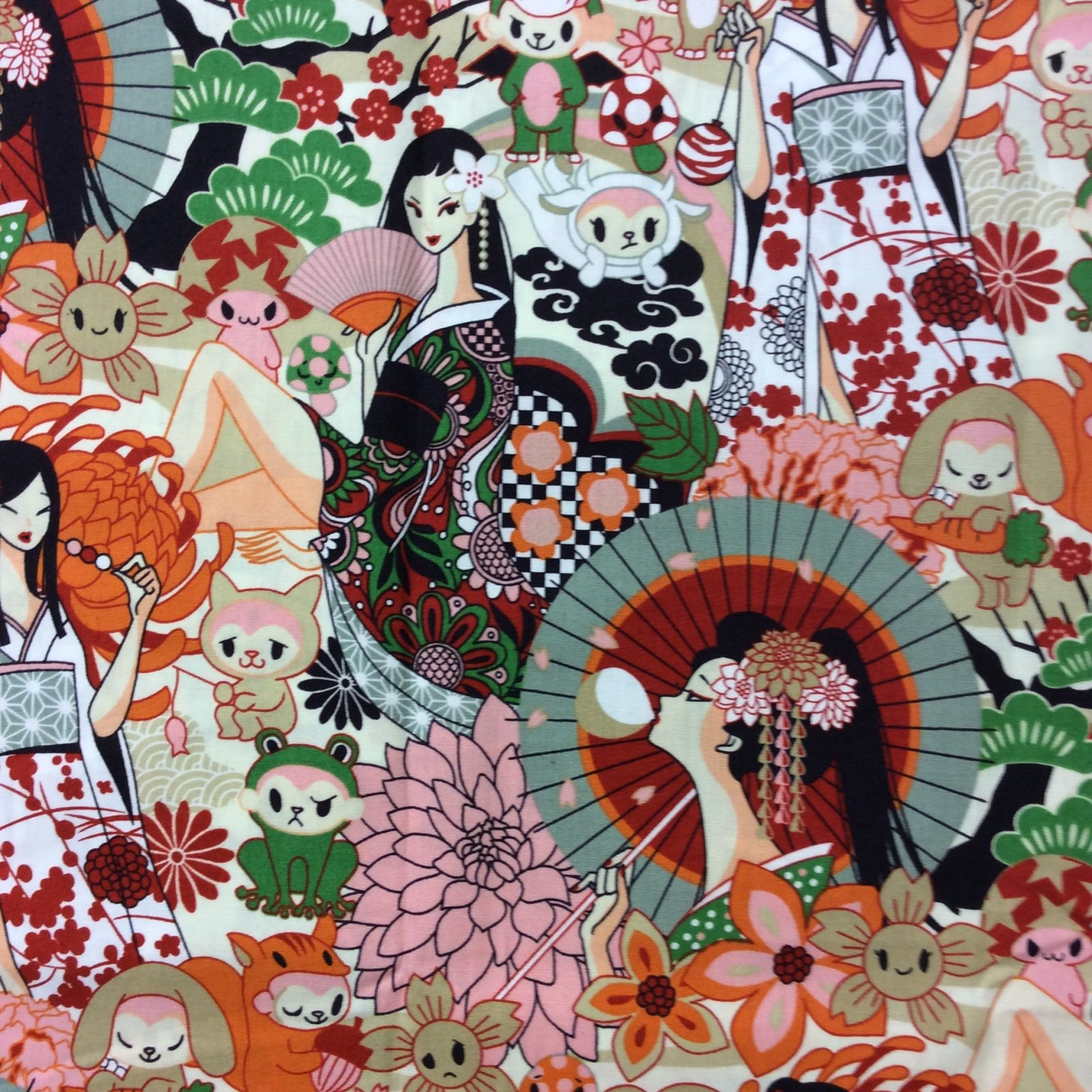 FT31 Japanese Geisha Fashion Oriental Cartoon Anime Quilt ...
