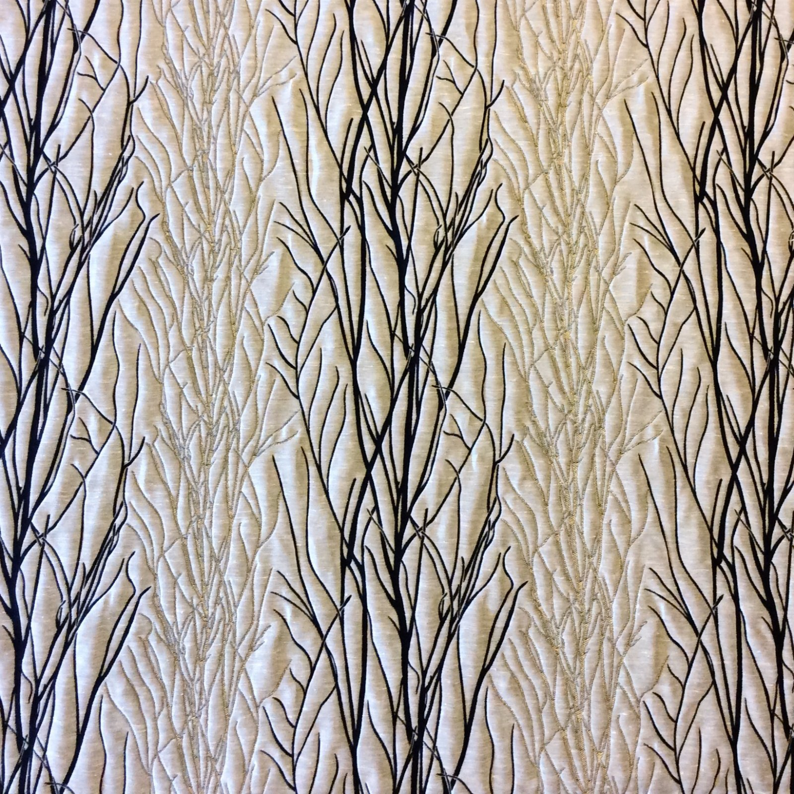 Fabric tree pattern - Birch Forest Heavy Weight Tapestry Taupe Espresso Tree Branch Upholstery Fabric Drapery Fabric Hm100