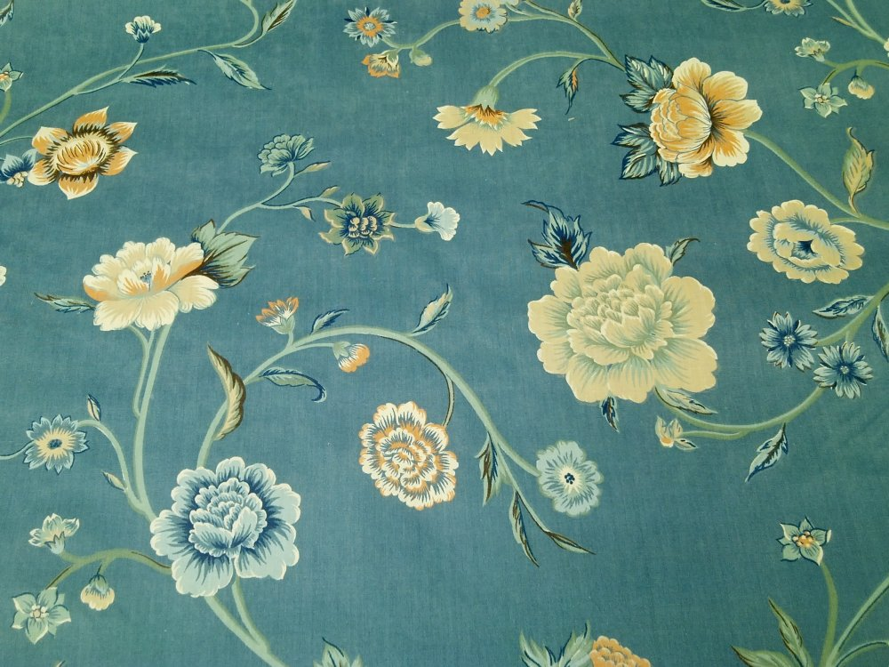 Chintz english garden floral flower shabby chic style for Chintz fabric
