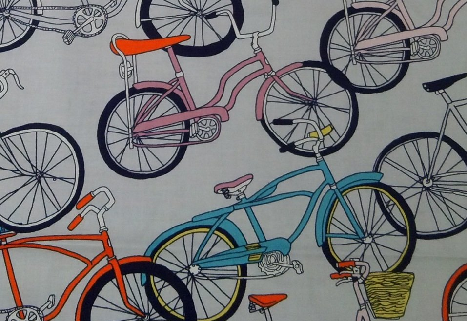 Bicycle Retro Schwinn Banana Seat Bike Cotton Fabric Quilt ...