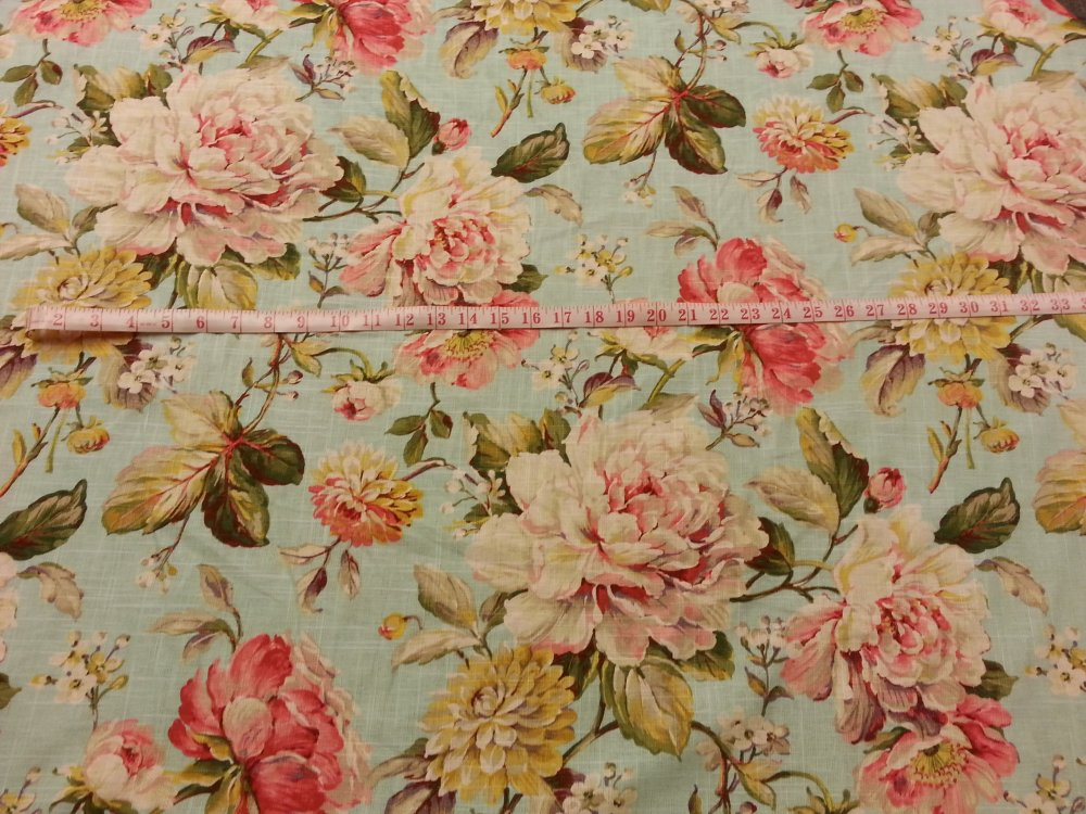 French Country Fabrics Part - 18: English Garden Shabby Chic Style French Country Linen Fabric Drapery Fabric  CV100 OS