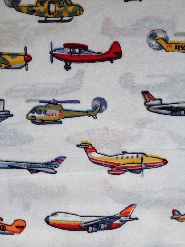 Airplanes helicopters planes jets aircrafts cotton fabric for Airplane print cotton fabric