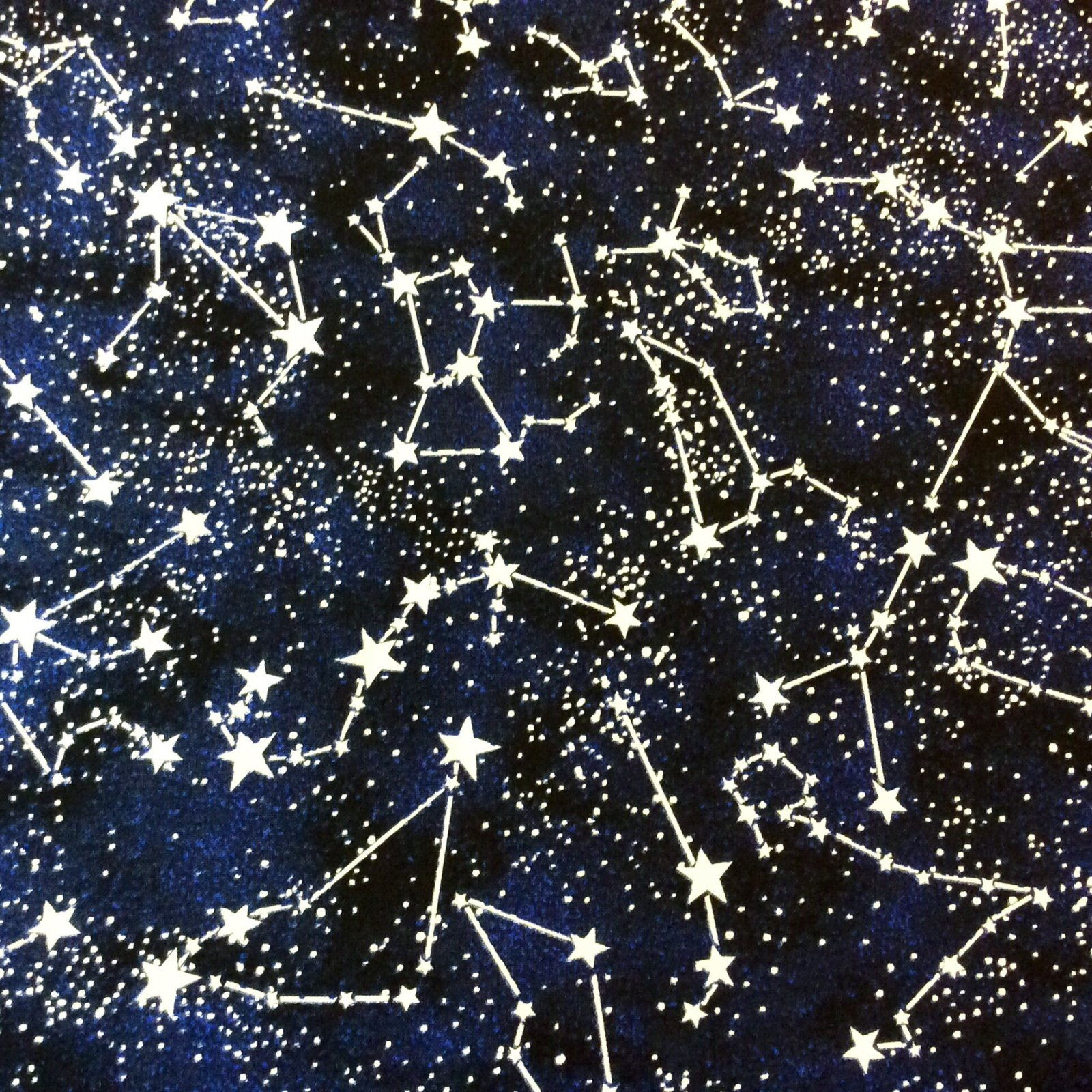 Galaxy stars zodiac constellations glow in the dark space for Space themed fabric