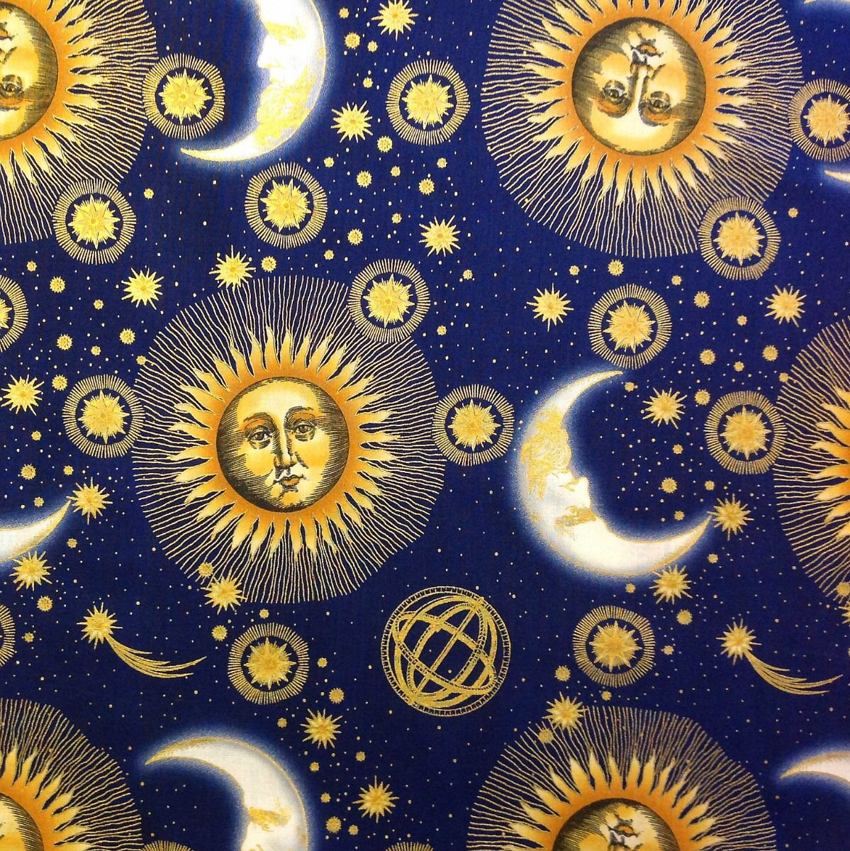 Outer space galaxy stars zodiac for Astrology fabric