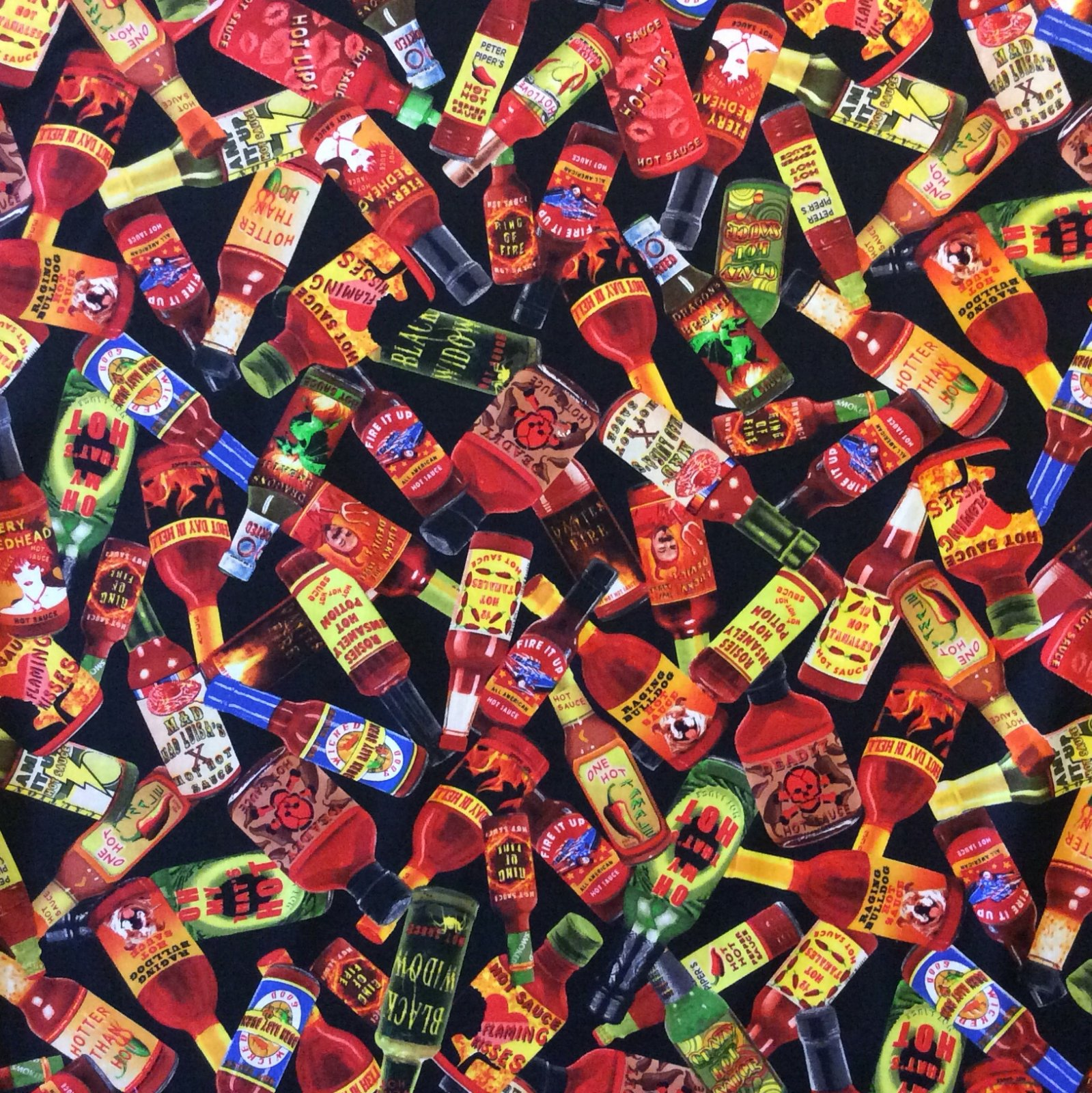 Md270 Hot Sauce Tabasco Chili Spicy Condiment Pepper Quilt