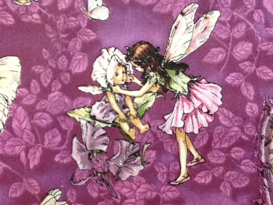 Flower Fairies Fairy Cecily Barker Purple With Silver