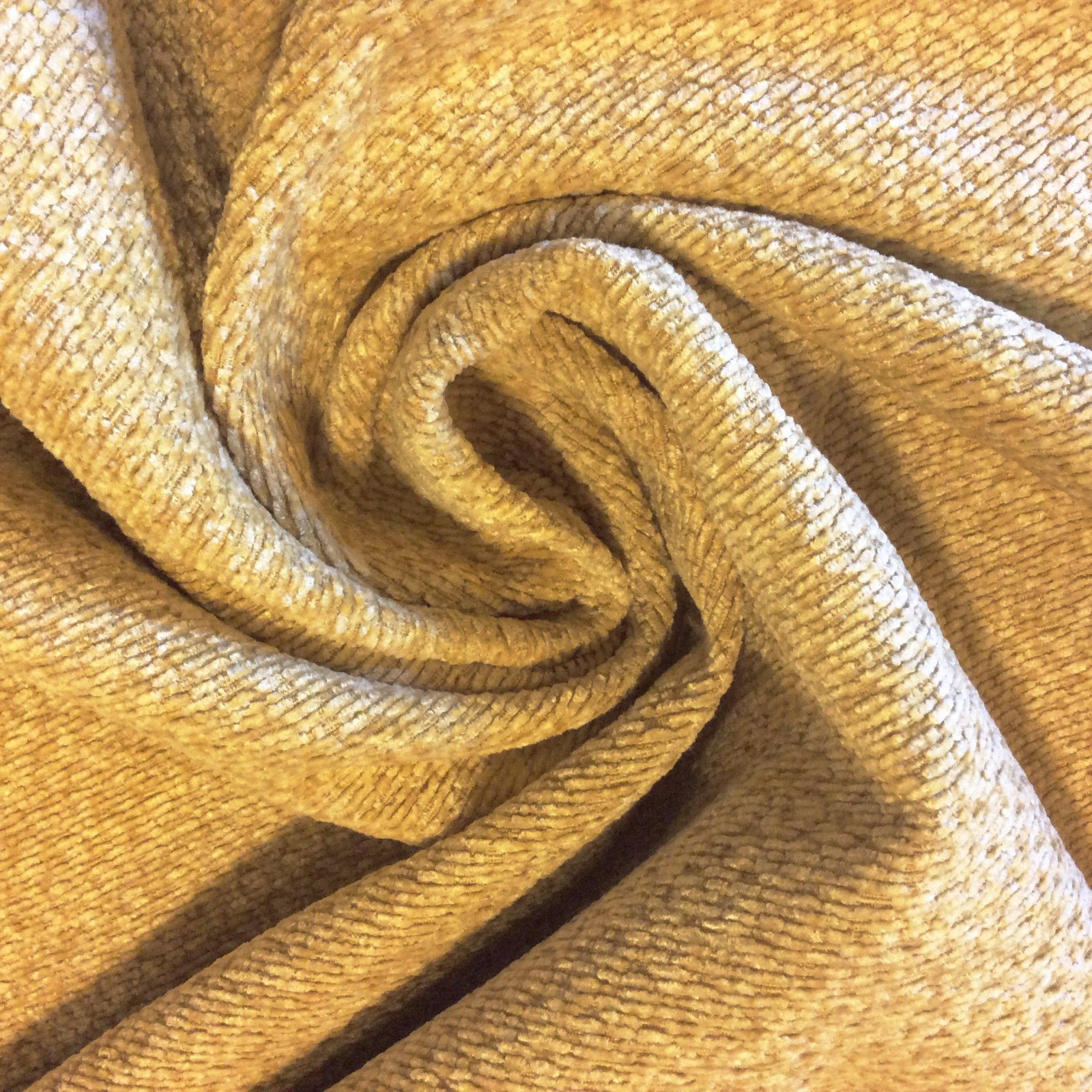 LHD153 A Gold Jonquil Chenille Upholstery Poly Blend Heavy Home