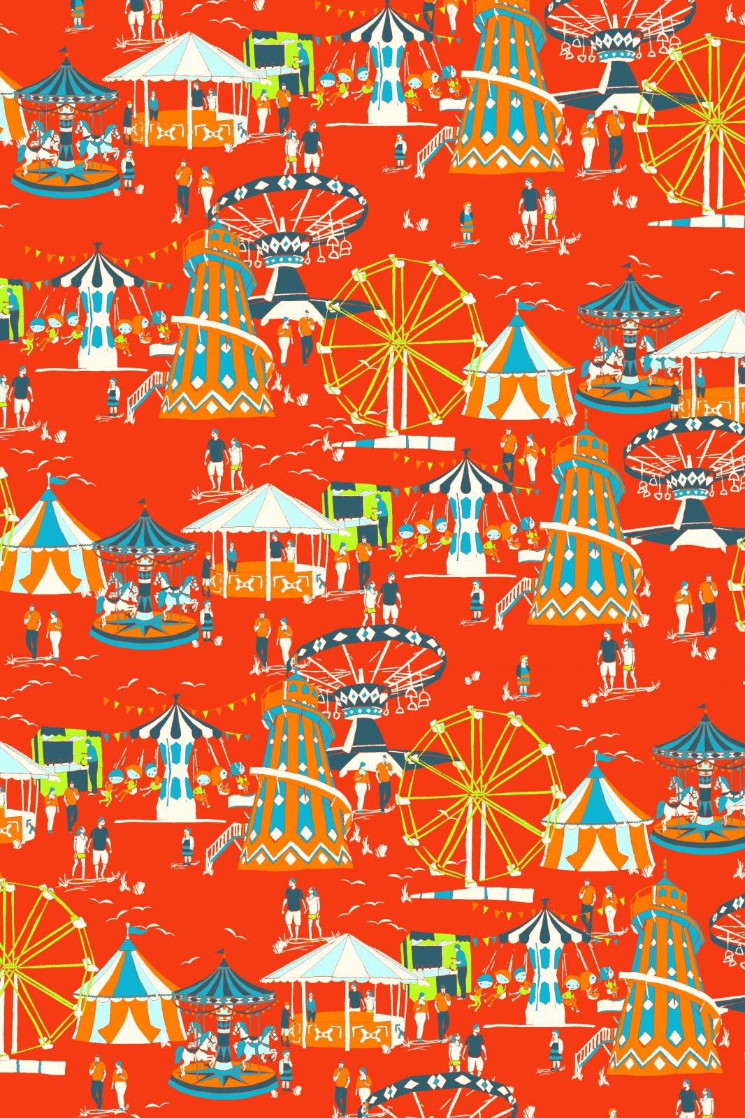 Circus Fabric Zoo Fabric Carnival Fabric