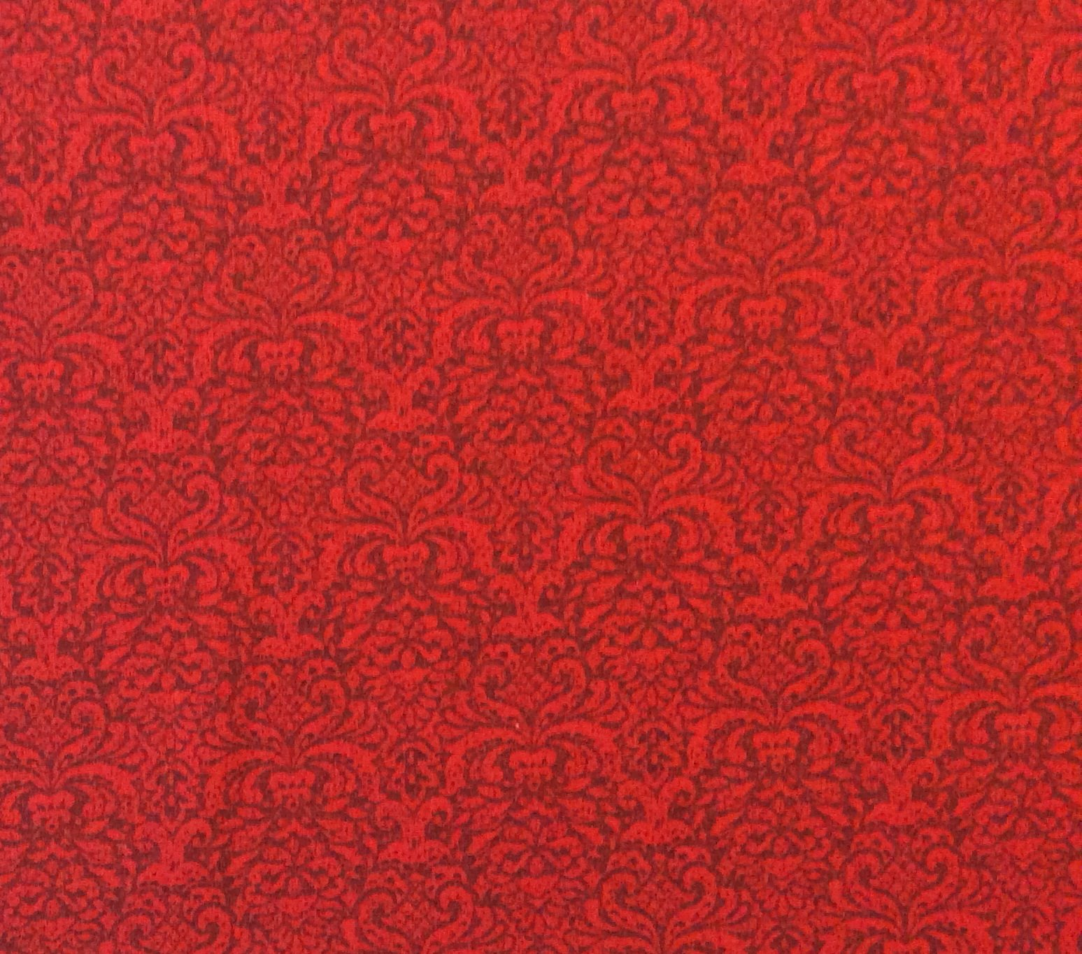 Md231 crimson damask holiday christmas pattern elegant for Cotton quilting fabric