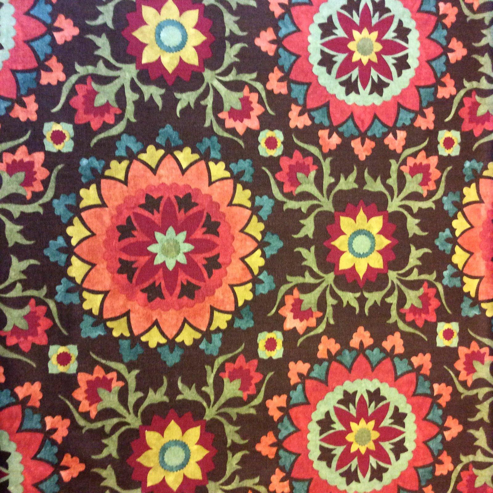 nl233 moroccan floral suzani medallion jewel tone cotton weave nl233 moroccan floral suzani medallion jewel tone cotton weave home decor fabric