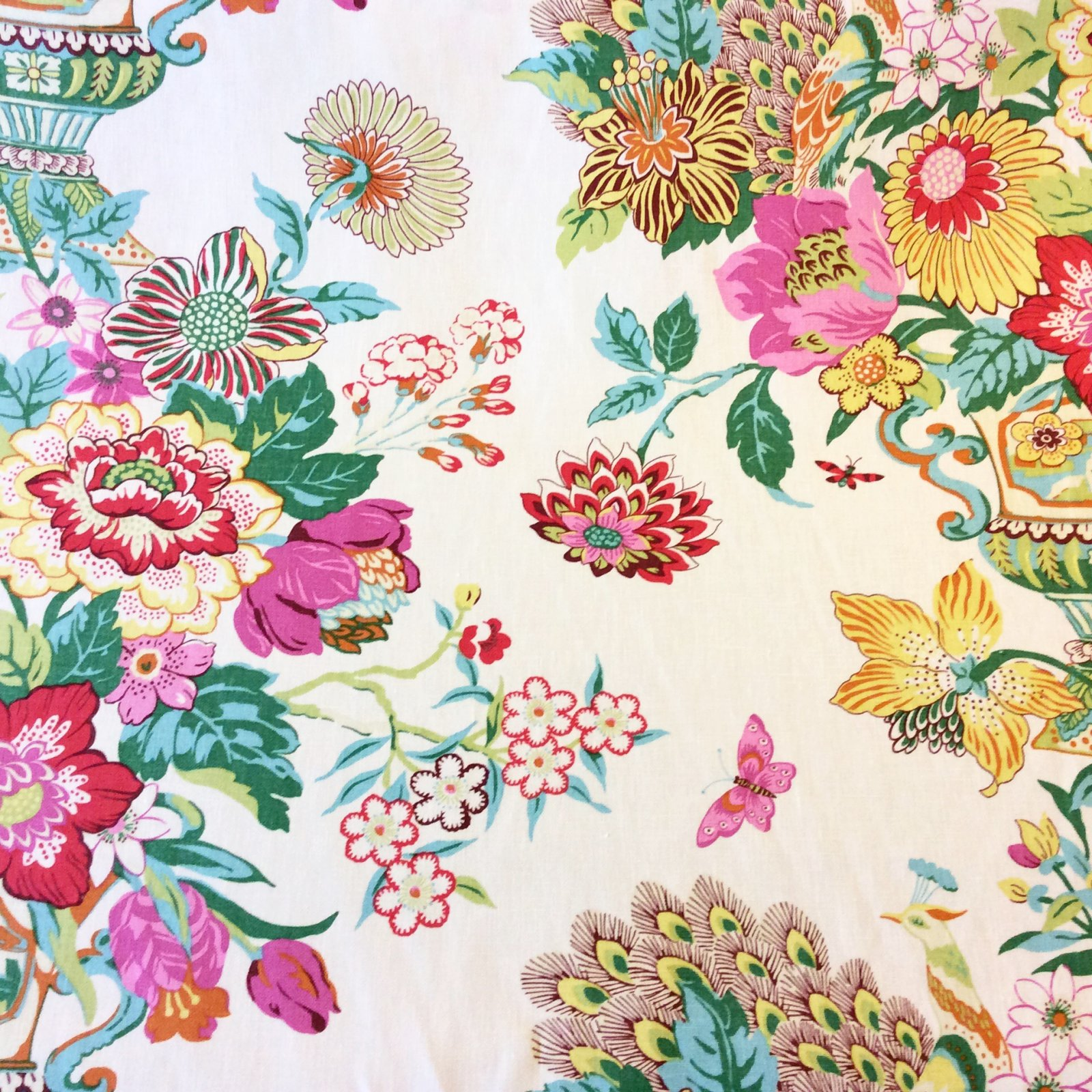 Prints toile chintz fabric for Chintz fabric