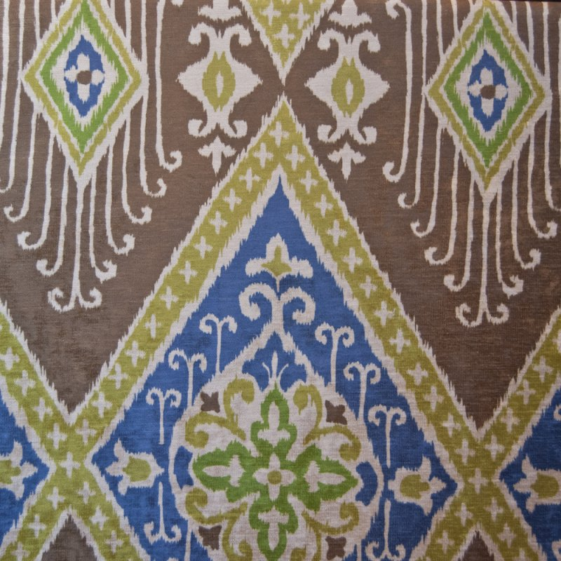 Ikat Home Decor Fabric: Z OR114 Ikat Diamond Printed Velvet By The Yard Upholstery