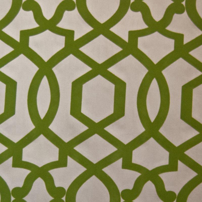 z or125 flocked emerald lattice cut velvet by the yard. Black Bedroom Furniture Sets. Home Design Ideas