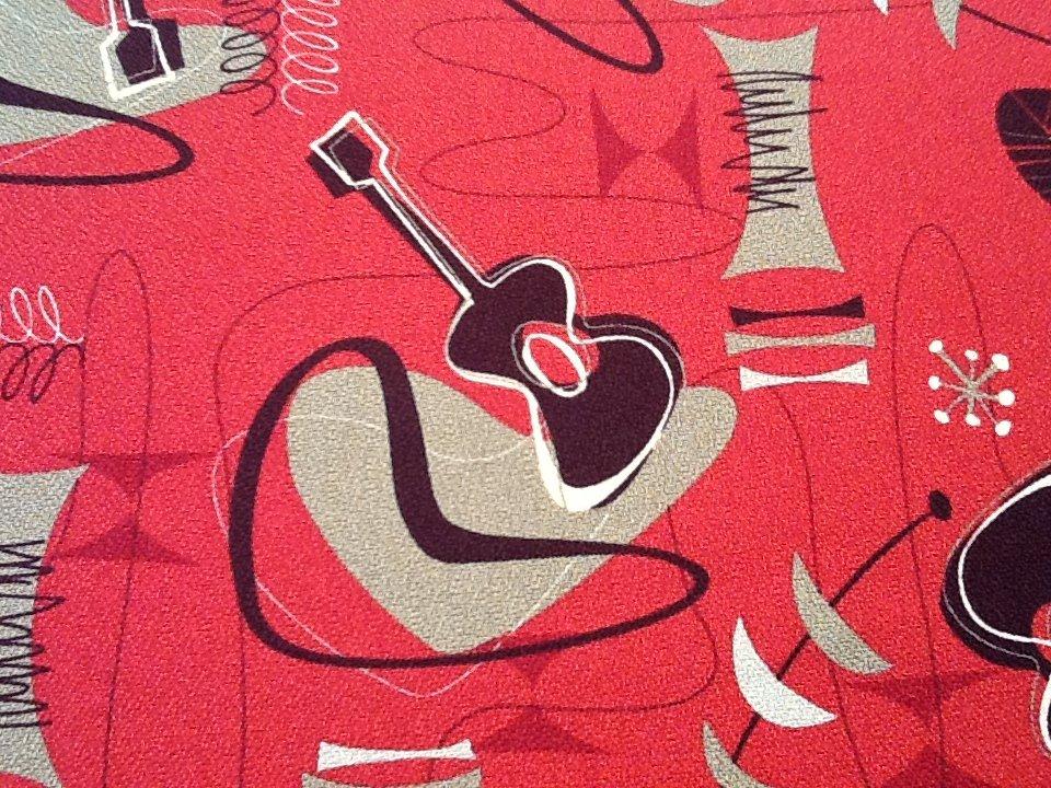Atomic Ranch Mid Century Modern Era Bommerang Guitar