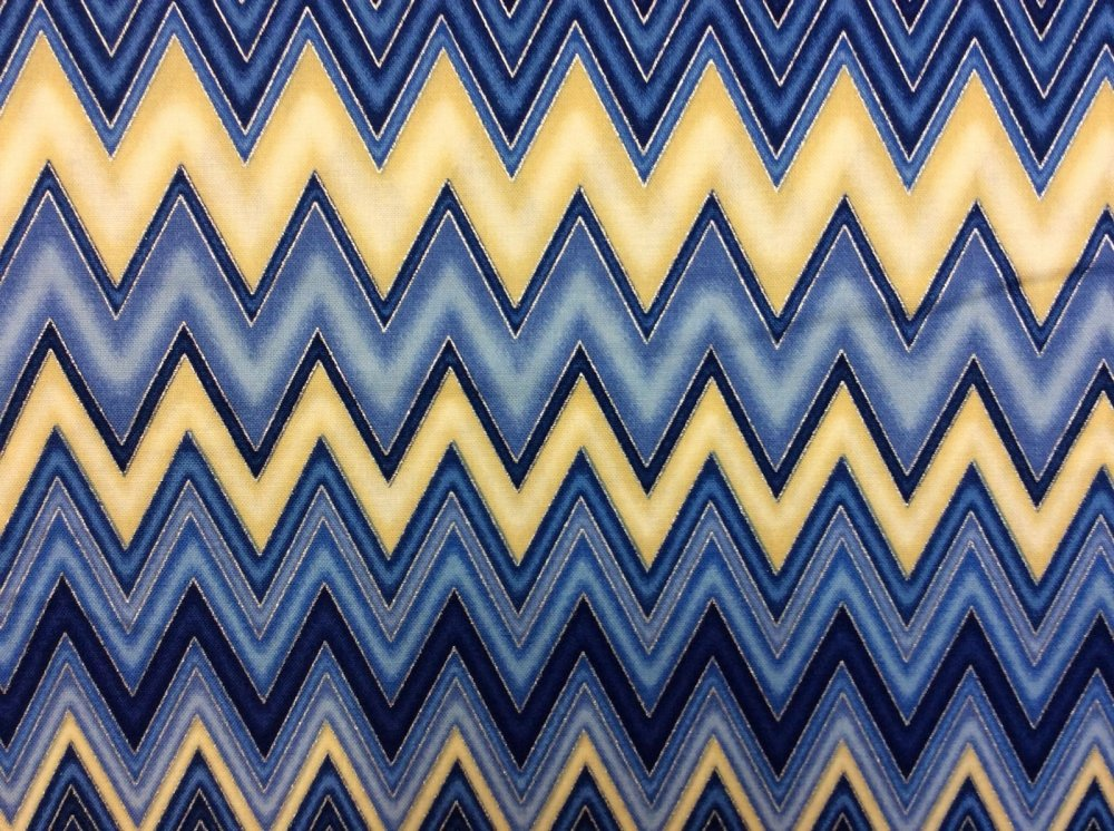 Quilted Fabric Blue ... Blue Yellow...