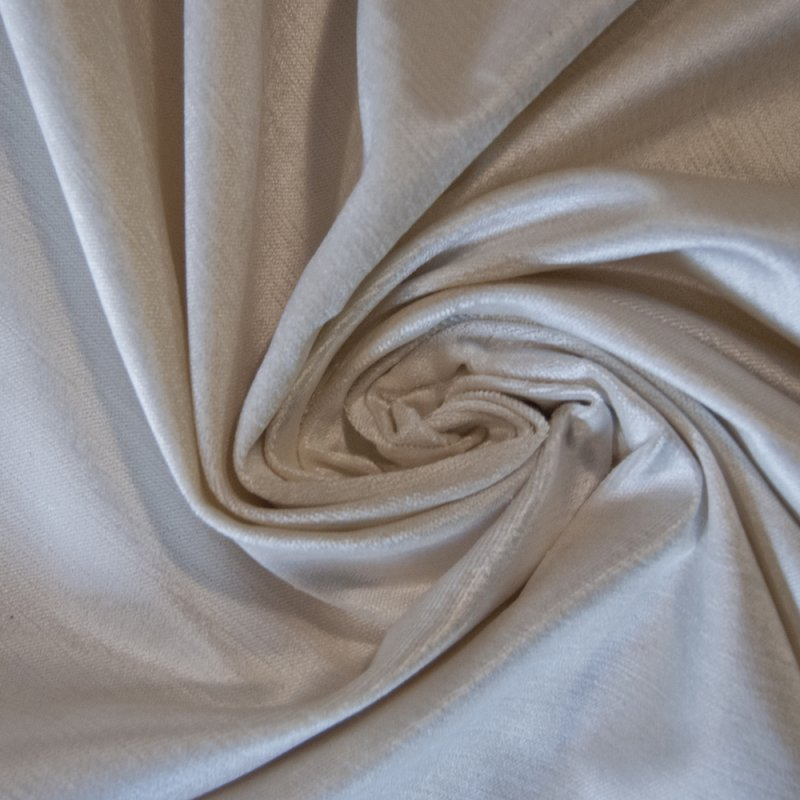 Rx006 Spectacular Solid Velvet Off White By The Yard Upholstery