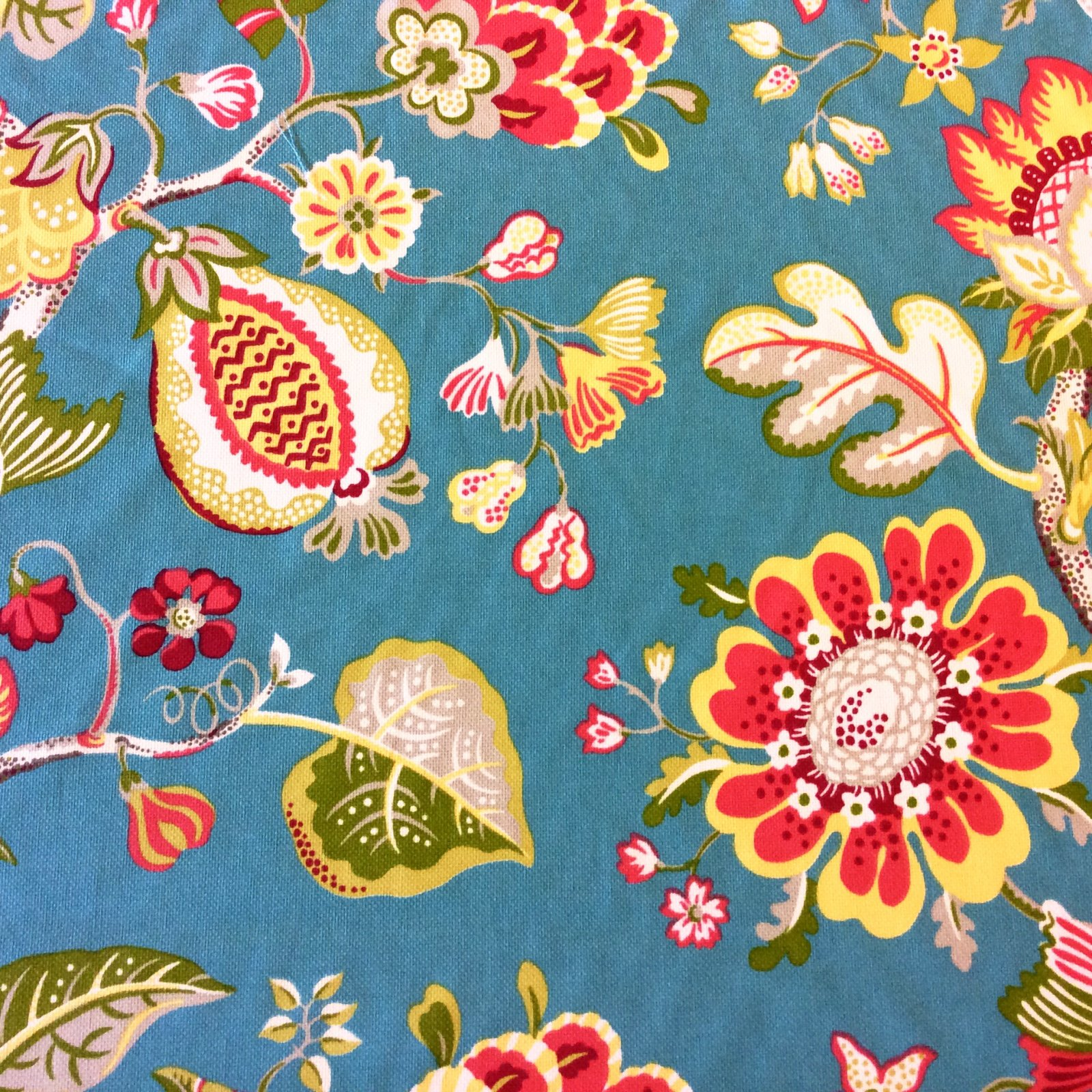 Floral Bold Tropical Fruit Floral Woven Outdoor Indoor Home Decor Fabric Sm26