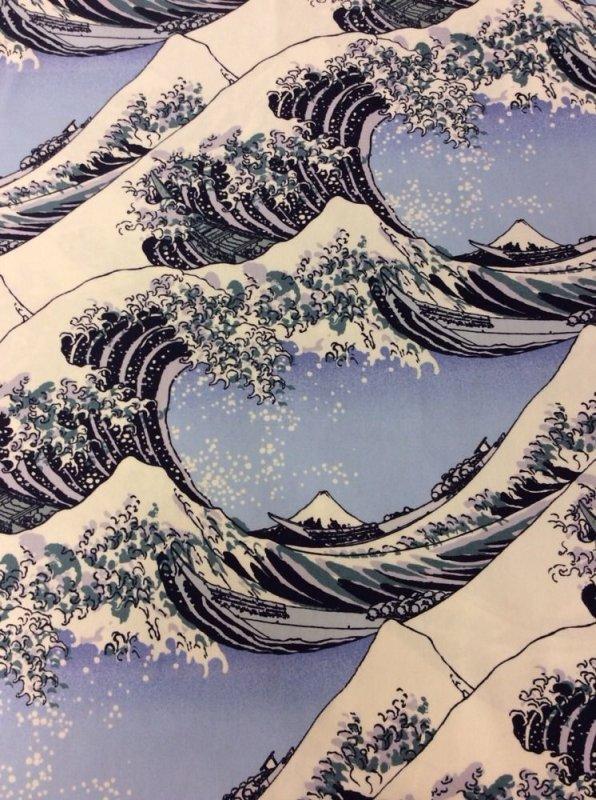 Hokusai Wave Woodcut Heavy Canvas Japanese Tsunami Waves ...