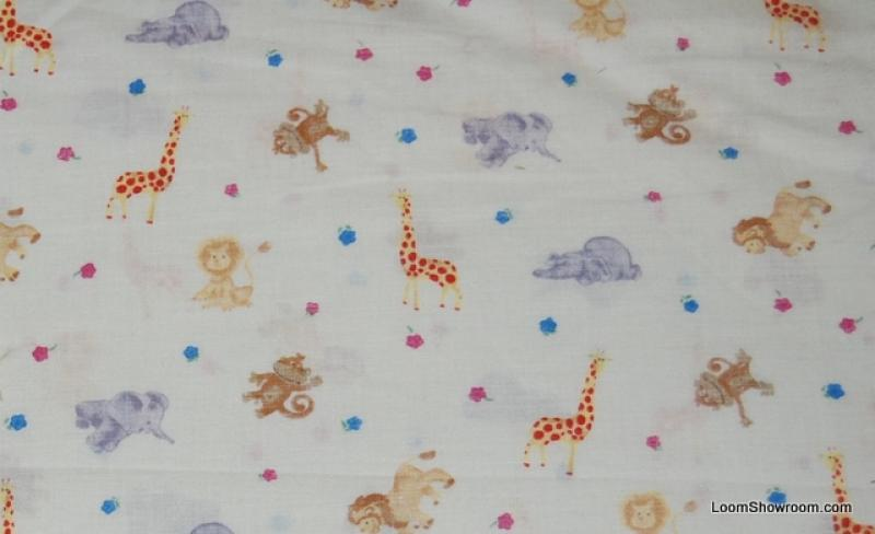 149 retro baby theme nursery jungle animals lion elephant for Baby themed fabric