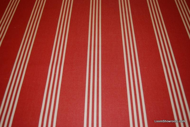 Ralph Lauren Classic Awning Stripe Famous Maker Soft Acrylic Red And White  Stripe Outdoor Fabric 724
