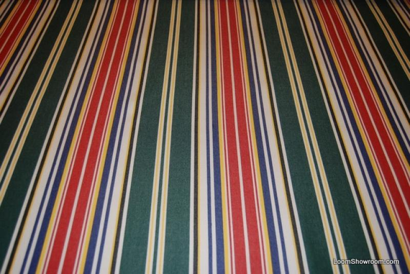 Classic Awning Stripe Famous Maker Acrylic Outdoor Fabric Green Blue Yellow White Black Stripe fabric 728