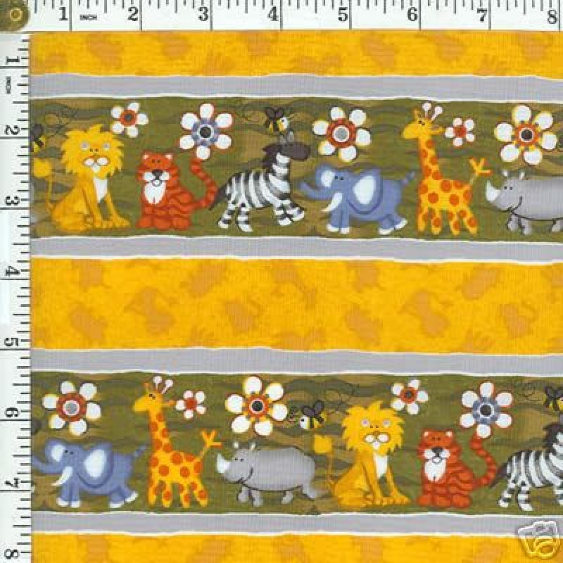 854 bart jungle lion zebra retro quilt cotton fabric for Childrens jungle print fabric