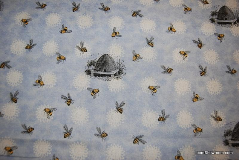 Honey Bee Vintage Style French Country Culinary Print Bee Skep - French french country fabrics