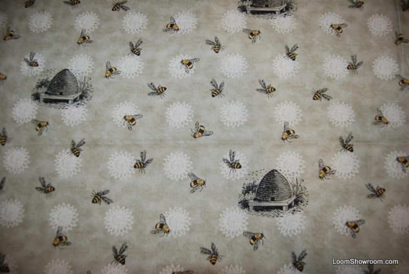 Honey Bee Vintage Style French Country Culinary Print Bee Skep