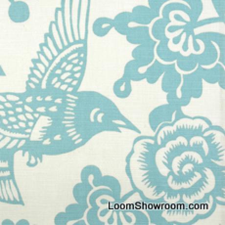 Thomas paul modern graphic silouhette print bird floral for Modern home decor fabric prints