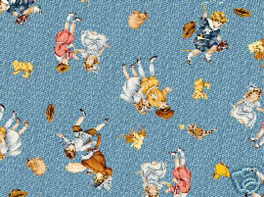 G60 retro vintage bessie pease kids quilt cotton fabric for Childrens quilt fabric