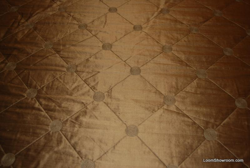 K125 Kravet Taupe Quilted Harlequin Silk Fabric