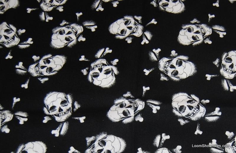 Skull and Crossbones LM31 Pirate Goth Biker Knife Cutting ...