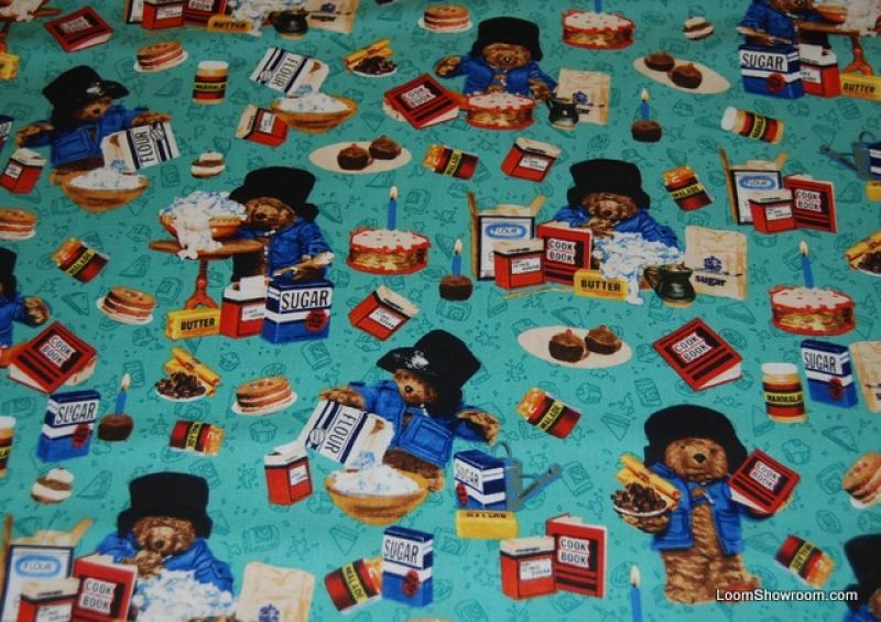 Paddington bear bakes a cake vintage children 39 s book teddy for Childrens material