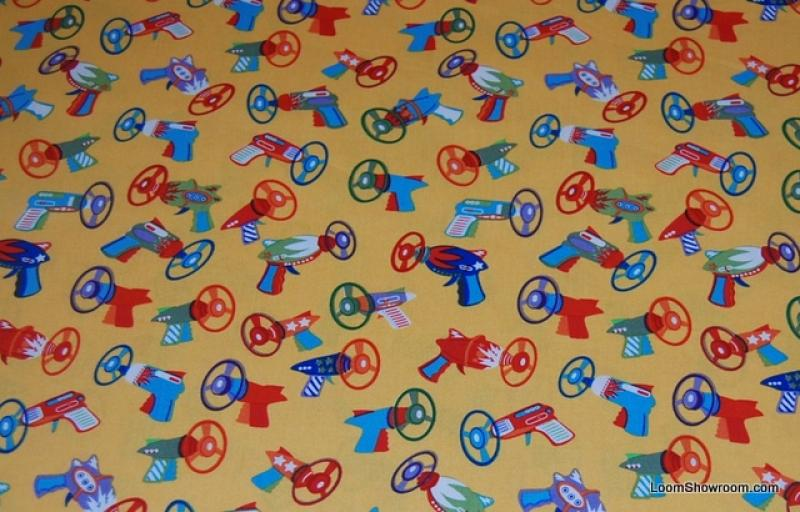 P140 spyro blasters toy guns ray guns kids toys retro for Space themed fleece fabric