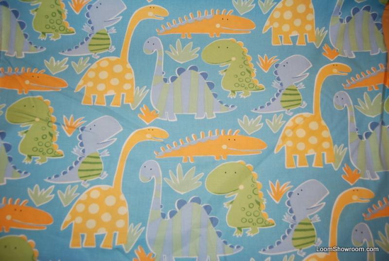 R346 scandinavian modern baby dinosaurs cotton fabric for Baby dinosaur fabric