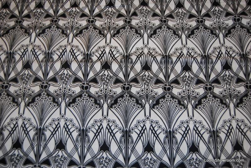 Arts And Crafts Morris Silvers Style Night And Day Black And White - Arts and crafts fabric patterns