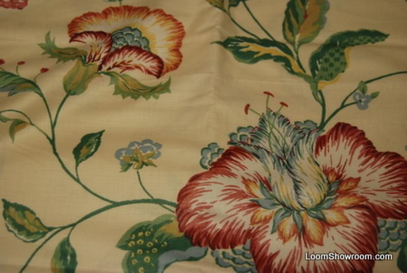 2 5 Yard Piece Glazed Chintz Polished Cotton Heavy Drapery